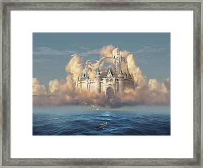 Castle In The Sky Framed Print by George Grie