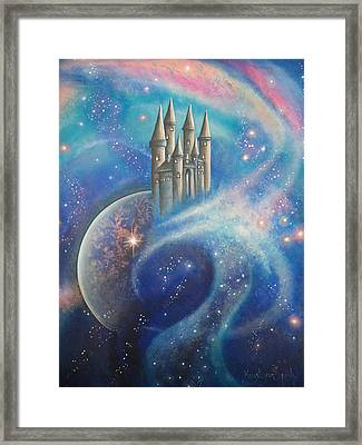Castle In The Stars Framed Print