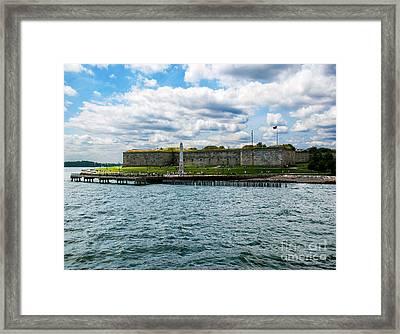 Castle Island  Boston Ma Framed Print