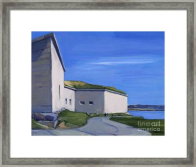 Castle Island Framed Print by Deb Putnam