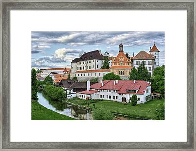 Castle Jindrichuv Hradec View From South West Bohemia Framed Print
