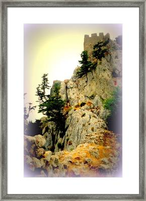 We Climbed Up To The Old Castle  Framed Print