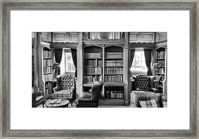 Framed Print featuring the photograph Castle Library by Christi Kraft
