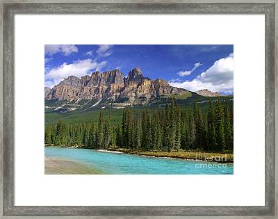 Castle Mountain Banff The Canadian Rockies Framed Print