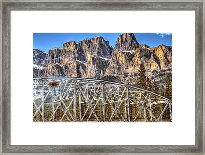 Castle Mountain Bridge- By Carol Cottrell Framed Print