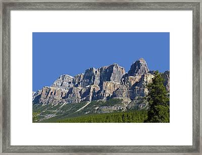 Castle Mountain Framed Print