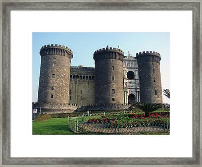 Castle Nuovo Naples Italy Framed Print