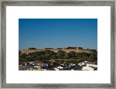 Castle Of Castro Marim From The Hill Framed Print