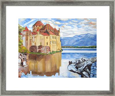 Castle Of Chillon Framed Print by John Keaton