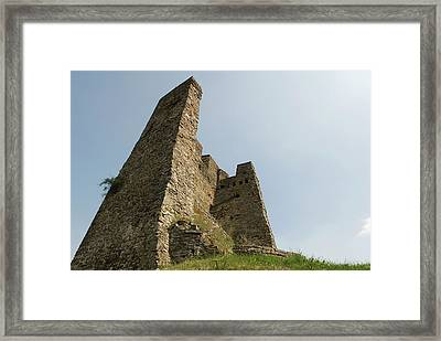 Framed Print featuring the photograph Castle Of Dasburg Near The Ardennes  - Natioanlpark Eifel - Germany by Urft Valley Art