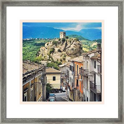 Castle Of Roccascalegna Framed Print by Massimiliano Bellisario