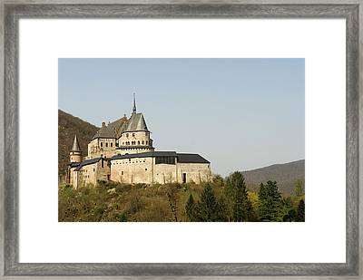Framed Print featuring the photograph Castle Of Vianden - Margarete Of Courtenay -  King Philip-augustus - King William Of Holland by Urft Valley Art