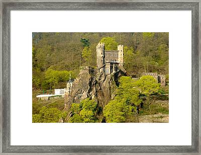 Castle On A Rock Framed Print