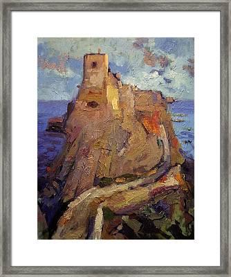 Castle On San Nicola Island Framed Print by R W Goetting