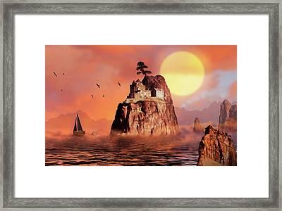 Castle On Seastack Framed Print