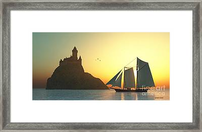 Castle On The Sea Framed Print