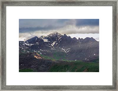 Framed Print featuring the photograph Castle Peak by Aaron Spong
