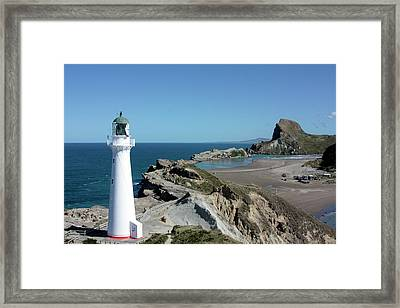 Castle Point Lighthouse Framed Print by Bruce