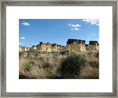 Castle Rock Badlands Framed Print by Keith Stokes