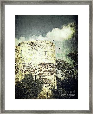 Castle Ruins Framed Print by Callan Percy