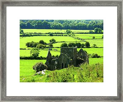 Castle Ruins Countryside Framed Print