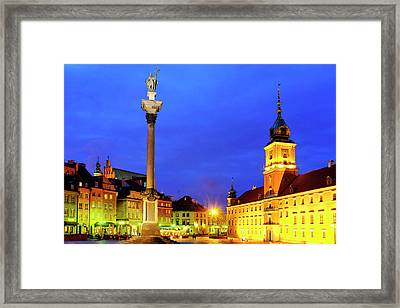 Framed Print featuring the photograph Castle Square by Fabrizio Troiani