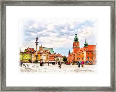 Castle Square, Warsaw Framed Print