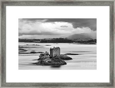 Castle Stalker - D002192bw Framed Print