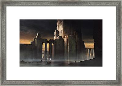 Castle Sunset Framed Print
