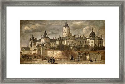 Castle Tre Kronor. Stockholm  Framed Print by Govert Dircksz Camphuysen