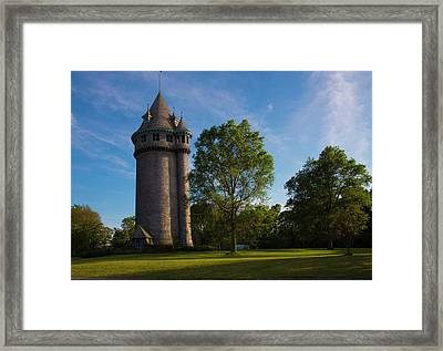 Castle Turret On The Green Framed Print