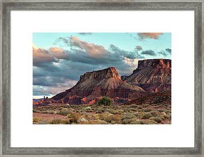 Castle Valley Finale Framed Print