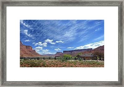 Castle Valley Pan  Framed Print by Jeff Brunton