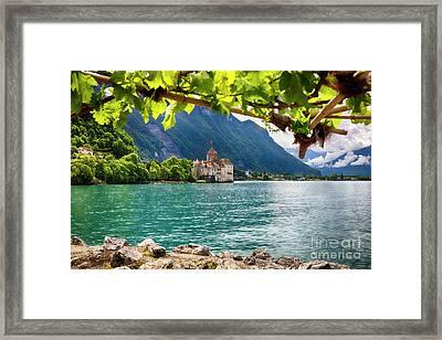 Castle View On Lake Geneva Framed Print