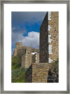 Castle Wall In Alentejo Portugal Framed Print
