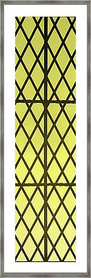 Castle Window Yellow Framed Print by Aimee L Maher Photography and Art Visit ALMGallerydotcom