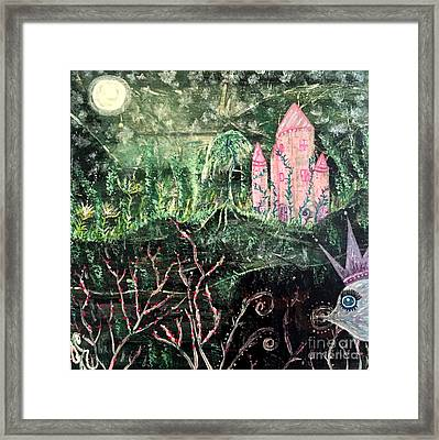 Castle Wisteria Framed Print by Julie Engelhardt