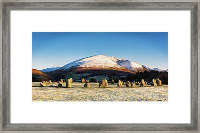 Castlerigg Stone Circle Framed Print by Janet Burdon