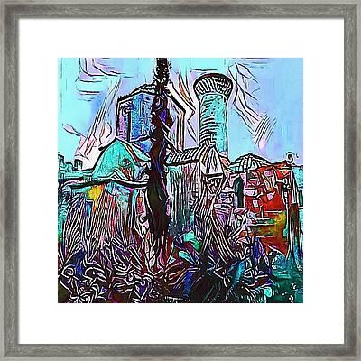 castles blue - My WWW vikinek-art.com Framed Print