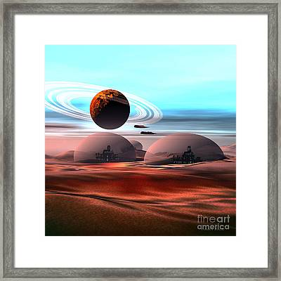 Castles In The Sand Framed Print by Corey Ford