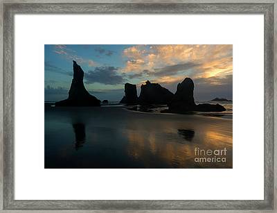 Castles In The Sand Framed Print by Mike Dawson