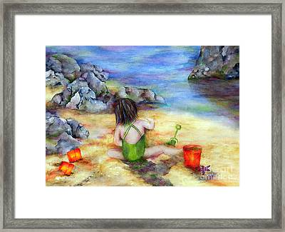 Castles In The Sand Framed Print by Winona Steunenberg