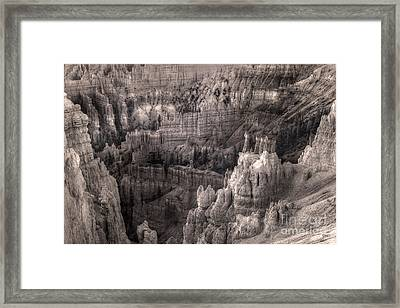Castles Made Of Sand In The Hoodoos  Framed Print by William Fields