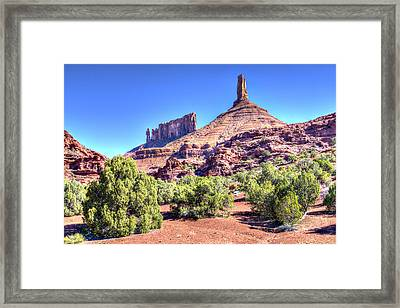 Framed Print featuring the photograph Castleton Tower by Alan Toepfer