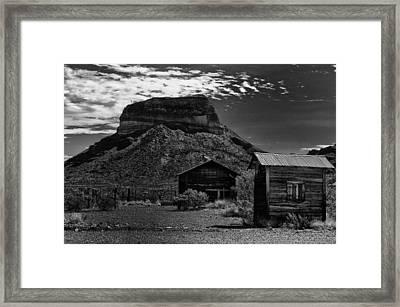 Castolon Ghost Town Framed Print