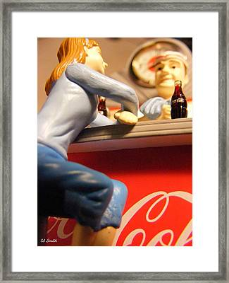 Casual Conversation Framed Print by Ed Smith