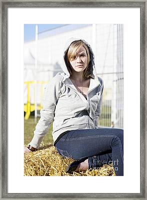 Casual Country Girl Framed Print by Jorgo Photography - Wall Art Gallery