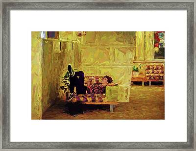 Framed Print featuring the photograph Casual Student by Lewis Mann