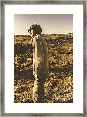 Casual Winter Lifestyle Framed Print