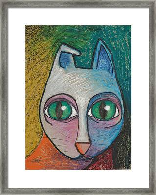 Cat  2000 Framed Print by S A C H A -  Circulism Technique
